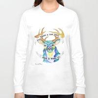 bad idea Long Sleeve T-shirts featuring Candy Hearts lyrics Bad Idea Deer by Malice In Wonderland