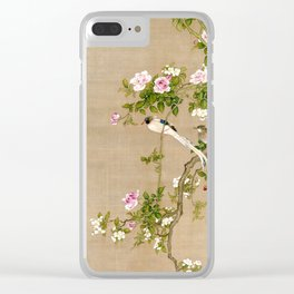 Flowers and Birds Clear iPhone Case
