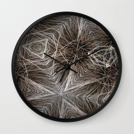 Wire Web Wall Clock