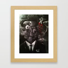 Eraser Cranium Framed Art Print