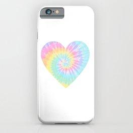 Tie Dye Heart iPhone Case