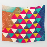 scales Wall Tapestries featuring Scales  by sixsixtysix