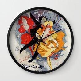 La Redoute des Etudiants Cheret 1894 Wall Clock