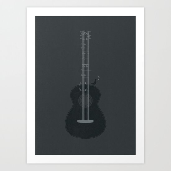 Acoustic Notation Art Print