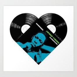 ColtraneLove Heart Jazz Vinyl records Art Print
