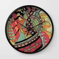 carousel Wall Clocks featuring Carousel by Tuky Waingan