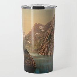 """""""Lofoten Trollfjord Norway"""" Travel Mug"""