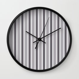 Gray Stripes Wall Clock