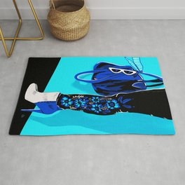Blue Fashion Boots by Cindy Rose Studio Rug