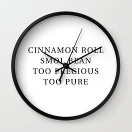 Precious Cinnamon Roll White Wall Clock