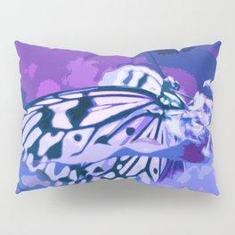 Blue Purple Butterfly Pillow Sham