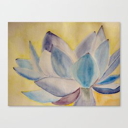 Blue lotus flower Canvas Print
