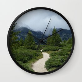 MAY YOUR TRAILS BE CROOKED Wall Clock