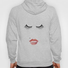 makeup print,bathroom decor,wall art,fashion print,lips print,eyelashes decor,girly,girls room art Hoody