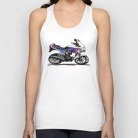 honda Tank Tops featuring 1983 Honda CX650TD Turbo by Saddle Bums