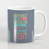 happiness Mugs featuring Happiness by Dorothy Leigh