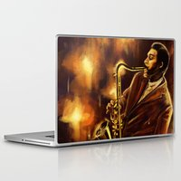 jazz Laptop & iPad Skins featuring Jazz by Linarts