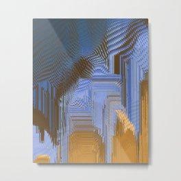 Gold Factory Metal Print