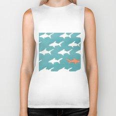 Splashy Sharks Biker Tank