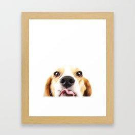 Forgot Something? Framed Art Print