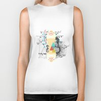 fifth element Biker Tanks featuring FIFTH SKY by D'ANGELO ATENEA