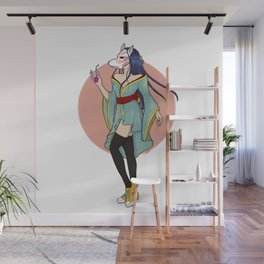 kitsune girl Wall Mural