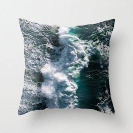 Crashing ocean waves - Ireland's seascapes at sunset Throw Pillow