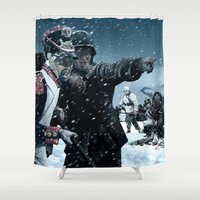 russia Shower Curtains featuring Ghosts of Mother Russia by Marcus Wild