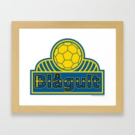 Sweden Blågult (The Blue-Yellow) ~Group F~ Framed Art Print