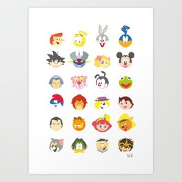 80's Cartoons Art Print