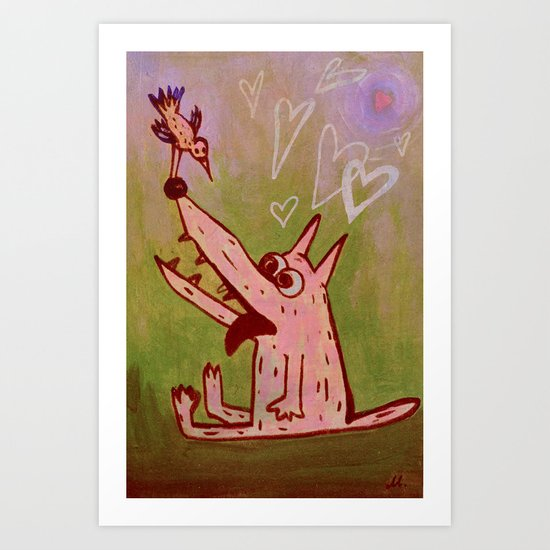 love from the first sight Art Print
