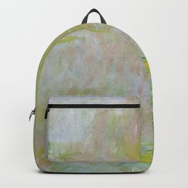 Water Lily Pond by Claude Monet Backpack