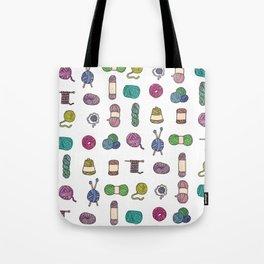 Knitting Balls of Yarn - Watercolor Tote Bag