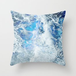 Perfect Sea Waves II Throw Pillow