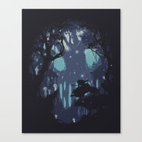kodama Canvas Prints featuring kodama Spirit by Robson Borges