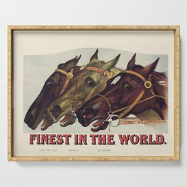 Finest in the World - Vintage Horse Racing Print Serving Tray