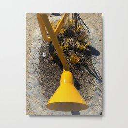 Yellow Speaker Metal Print