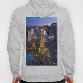 Aerial view of the Eiffel tower in Las Vegas Hoody