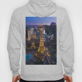 Aerial view of the Eiffel tower in Las Vegas Hoody
