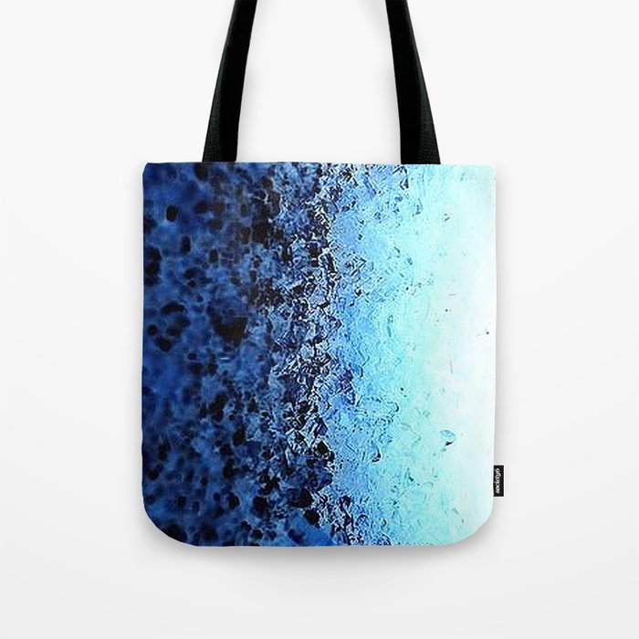 Blue Ombre CrystalS Tote Bag