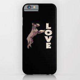 Giant Schnauzer LOVE Christmas Dog Stars iPhone Case