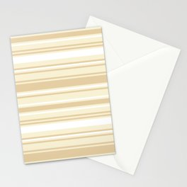 Stripes - Bamboo & Off-white Stationery Cards