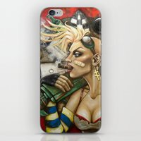 tank girl iPhone & iPod Skins featuring Tank Girl Nouveau by Megan Mars