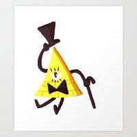 bill cipher Art Prints featuring Bill Cipher by Itzitxou