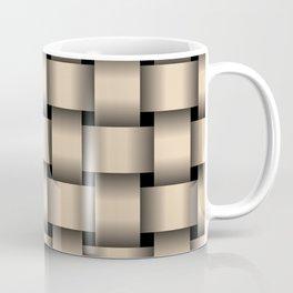 Large Bisque Brown Weave Coffee Mug