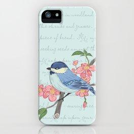 Blue Chickadee iPhone Case