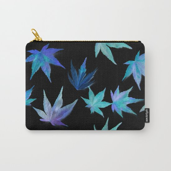 AUTUMN ROMANCE - LEAVES PATTERN #1 #decor #art #society6 Carry-All Pouch
