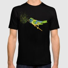 Feathers & Flecks (Canvas Background Edition) MEDIUM Mens Fitted Tee Black