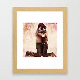 Rogue One watercolor - Jyn and Cassian Framed Art Print