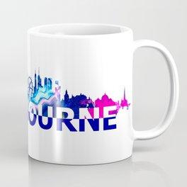 Melbourne Australia Skyline Scissor Cut Giant Text Coffee Mug